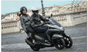 Обзор трехколесного скутера Yamaha Tricity — MBK Tryptik 125 Euro 4 2017