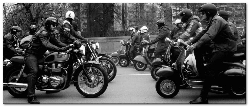 скутеры против мотоциклов