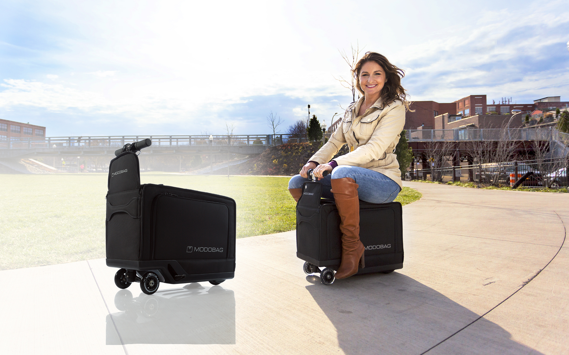 фото чемодана-скутера